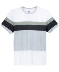American Rag Men's Variegated Stripe T Shirt Only At Macy's Bright White