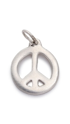 Helen Ficalora Peace Sign Charm Silver