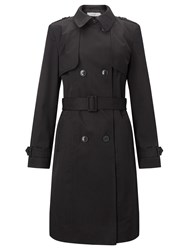 John Lewis Double Breasted Trench Coat Black