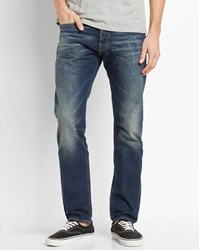 Carhartt Faded Dark Blue Klondike Edgewood Tapered Fit Jeans