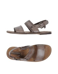 Dolce And Gabbana Footwear Sandals Men Dove Grey
