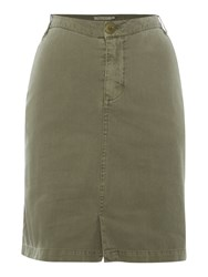Part Two Casual Skirt In A Soft Cotton Green