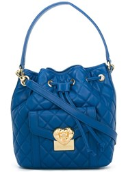 Love Moschino Quilted Bucket Bag Blue