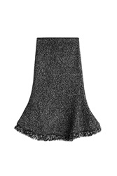 Alexander Mcqueen Flared Skirt With Wool And Cashmere Grey