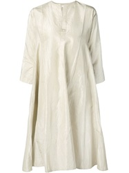 Dosa Shiny Tunic Dress Nude And Neutrals