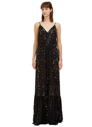 Lanvin Long Lace Button Down Dress Black