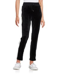Highline Collective Contrast Velour Pants Black