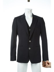 Dolce And Gabbana Pinstripe Three Piece Suit Black