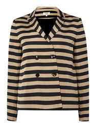 Hoss Intropia Long Sleeve Stripe Blazer Multi Coloured