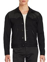The Kooples Button Front Long Sleeve Jacket Black