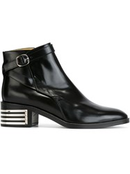 Each X Other Low Chunky Heel Buckled Boots Black