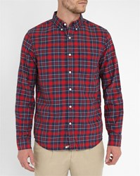 Denim And Supply Ralph Lauren Red And Blue Checked Oxford Shirt