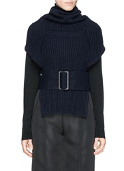 Toga Archives Rib Knit Neck Warmer Blue