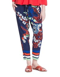 Plenty By Tracy Reese Relaxed Drawstring Pants Blue
