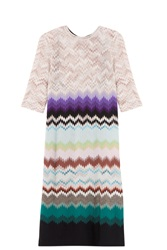 Missoni Patterned Dress Purple