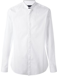Lanvin Mandarin Collar Shirt White