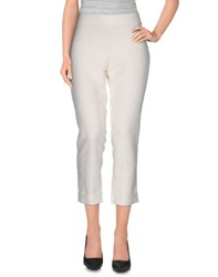 Just For You Trousers 3 4 Length Trousers Women White