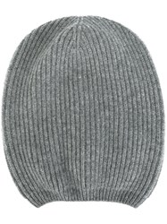 Moncler Ribbed Beanie Hat Grey