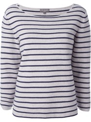 N.Peal 'Milano' Breton Sweater Nude And Neutrals