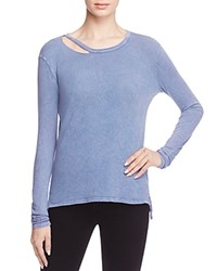 Pam And Gela Slash Neck Tee Surf Blue
