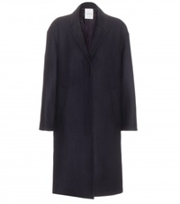 Wood Wood Wool Blend Coat Blue