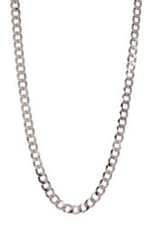 Rcg Rhodium Plated Sterling Silver 20' Diamond Cut Chain Necklace Beige