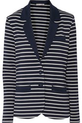 Tart Collections Striped Stretch Modal Jersey Blazer Navy