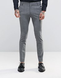 Religion Super Skinny Suit Trousers In Check With Stretch Black