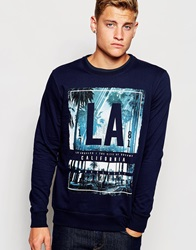 New Look La Placement Print Sweatshirt Navy
