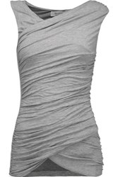 Bailey 44 Ruched Stretch Jersey Tank Stone