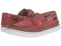Sebago Ryde Two Eye Rust Leather Men's Shoes Red