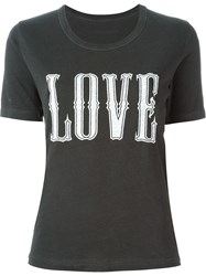 Zadig And Voltaire 'Walk' Overdyed T Shirt Grey