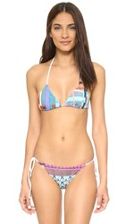 Clover Canyon Butterfly Kaleidoscope Triangle Bikini Top Multi