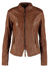 Be Edgy Bella Leather Jacket Cognac