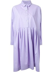 Antonio Marras Pleated Shirt Dress Pink And Purple