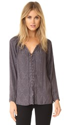 Ramy Brook Patricia Snake Top Gunmetal
