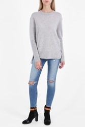 Rta Denim Skinny Knee Destroy Jeans Blue