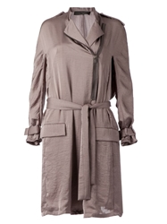 Haider Ackermann Draped Belted Trench Coat