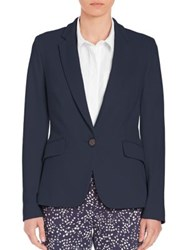 Peserico Stretch Knit Blazer Navy