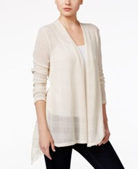 Styleandco. Style Co. Lace Inset Open Front Cardigan Only At Macy's Tan Cream