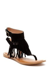 Restricted Kill It Fringe Sandal Black