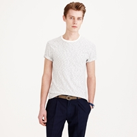 J.Crew Textured Cotton Pocket Tee In Bisque Stripe