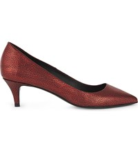 Maje Fia Leather Courts Rouge