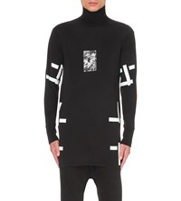 11 By Boris Bidjan Saberi Contrast Tape Cotton Jersey Top Black Dye