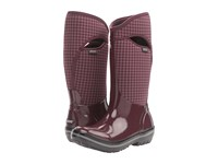 Bogs Plimsoll Houndstooth Tall Eggplant Multi Women's Waterproof Boots Purple