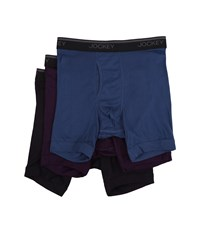 Jockey Staycool Classic Fit Athletic Midway Brief 3 Pack Antique Azure Tawny Port Best Navy Men's Underwear Multi