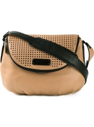 Marc By Marc Jacobs Perforated Flap Cross Body Bag Nude And Neutrals