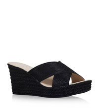 Carvela Kurt Geiger Sabrina Mid Heel Wedge Sandal Female Black