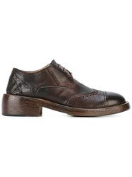Marsell Brogue Detailing Lace Up Shoes Red