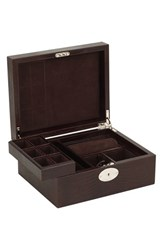 Men's Wolf '1834 Collection Iberica' Jewelry Case Brown Brown Lizard